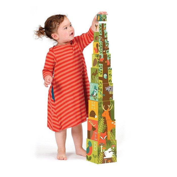 ~❤美國寶寶的衣櫥❤~ (現貨)美國Petit Collage 疊疊樂方塊盒   童話森林  盒中盒 精細動作訓練