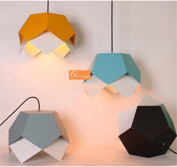 【LUNA LIGHT 月之燈坊】北歐簡約幾何彩色餐廳吊燈吧檯燈(P-521),另有LOFT工業吊燈設計師的燈