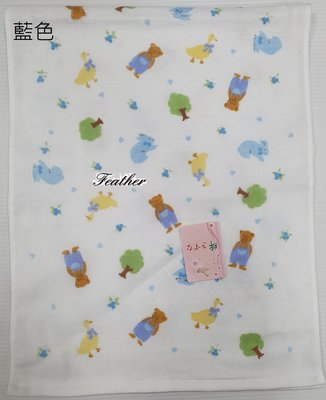 【Feather Living Shop】日本製 神藤毛巾 熊 紗布毛巾 紗布巾 S605 (二色)