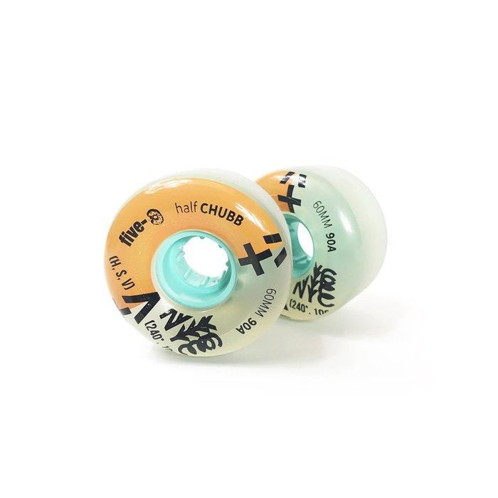 Bustin Boards (滑板/長板/交通板) FIVE-O 60mm Half Chubbs 滑板專用輪組