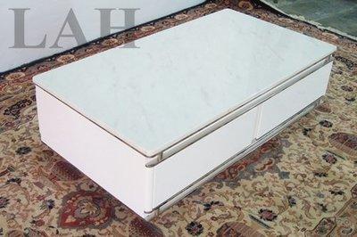 【生活家傢俱】A03-665CA 大理石茶几 【台中10600送到家】 亮烤 鋼烤 大理石 不鏽鋼 白鐵 桌子 白色