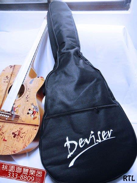 《∮聯豐樂器∮》39吋標準吉他厚袋(黑色)《桃園現貨》
