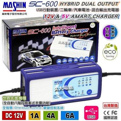 ✚久大電池❚ 麻新電子 SC600 脈...