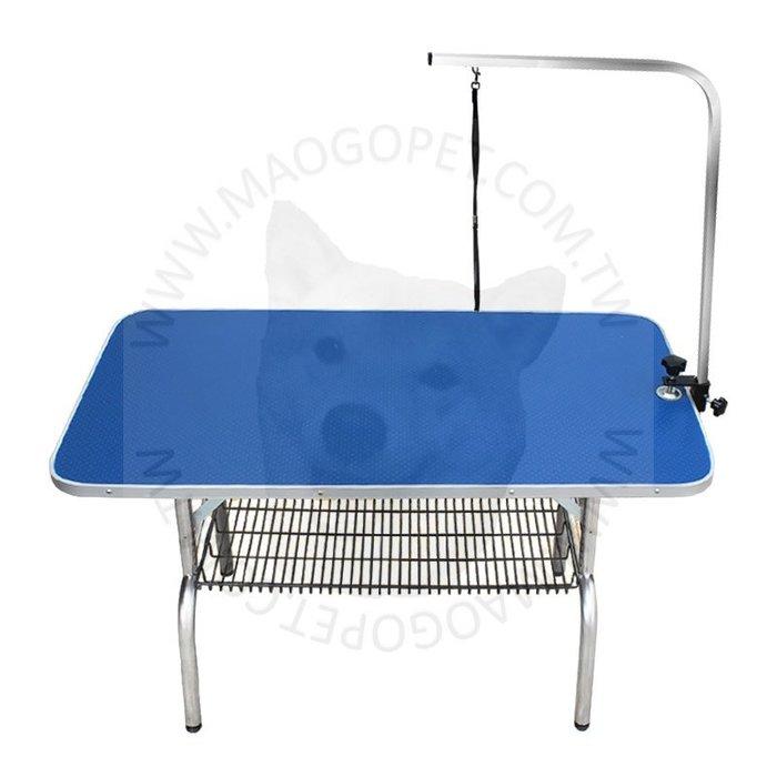 LAUMIE 寵物美容桌 犬貓狗美容修毛工作桌 剪毛台《 L號 》附底網&吊桿(繩)每件 4,980元