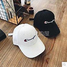 日本代購champion 17夏LOGO字母鴨舌帽棒球帽運動遮陽帽男女通用