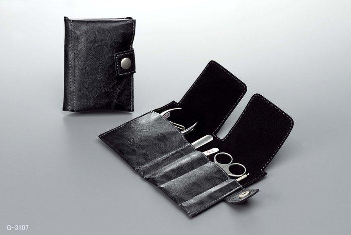 [霜兔小舖]日本製 匠之技  G-3107 鍛造鋼修容5件組  旅行隨身包   綠鐘 公司貨