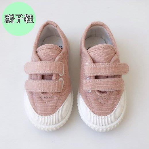 『※妳好,可愛※』韓國童鞋 韓國女鞋 韓國G 親子休閒鞋.魔鬼氈親子鞋 平底鞋休閒鞋懶人鞋帆布鞋