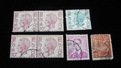 【大三元】歐洲郵票- 比利時-銷戳票7枚