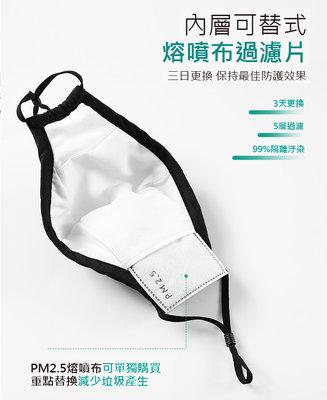 口罩替換用 PM2.5熔噴過濾片 可搭配專用口罩效果更佳  10片一組