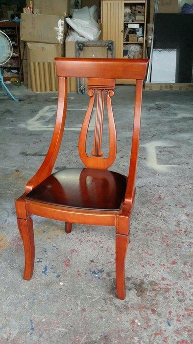 美生活館--- 古典餐桌椅組--原木豎琴餐桌椅組--一桌四椅特22000元--餐椅 單只2800 元