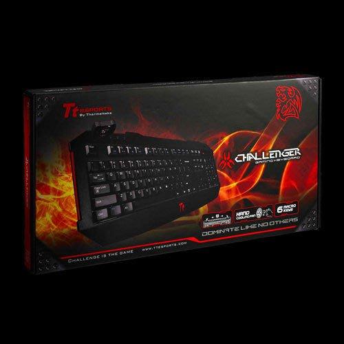 【川匯】最低價! 曜越Tt eSPORTS Challenger 挑戰者電競有線鍵盤 中文USB介面 羅技 Razer