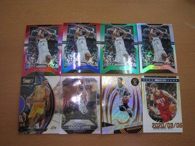 網拍讀賣~Brook Lopez~紅亮限量卡/299~平行銀亮卡~SILVER~銀亮~綠亮~三色~普特卡~共8張~