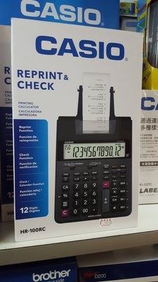 casio HR100RC 出紙計數機 計算機 可reprint and check