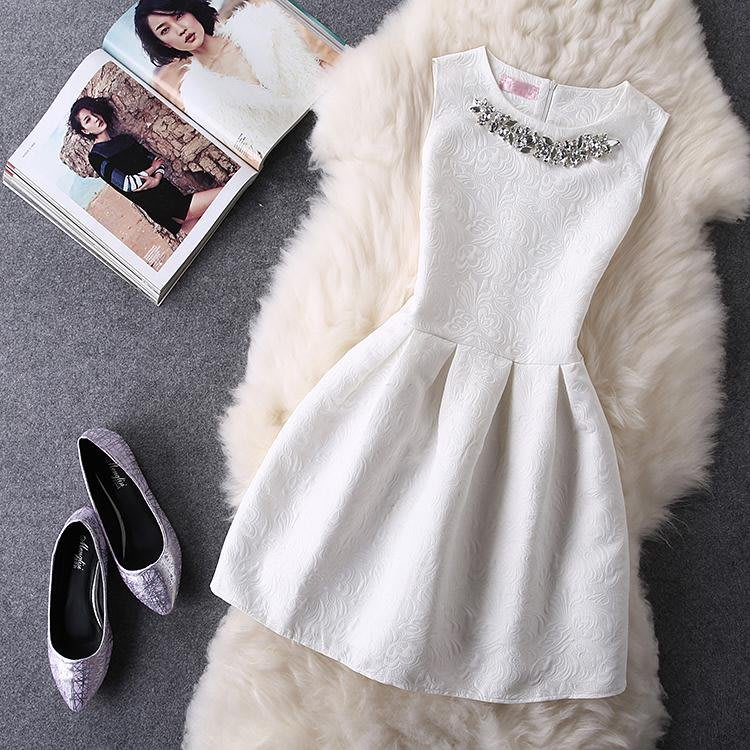 YANGS木易新款無袖偽娘衣服cos用品蓬蓬裙收腰女裝大佬連身裙男變裝短裙子洋裝