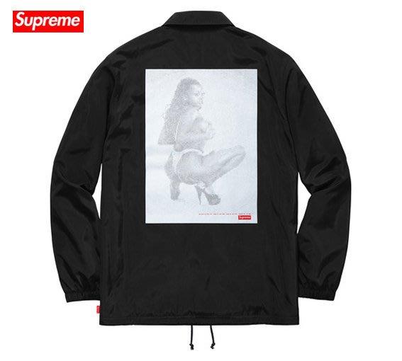 【超搶手】全新正品 2017 Supreme Digi Coaches Jacket 裸女 防風 風衣外套 黑 S