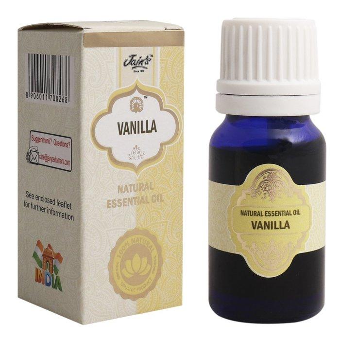 [綺異館]印度精油 香草 10ml JAIN'S VANILLA 另售印度皂 印度香