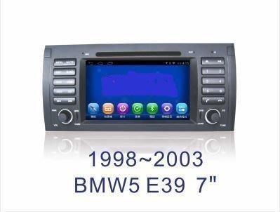 大新竹汽車影音 BMW E39 專用安卓機 7吋螢幕 台灣設計組裝 系統穩定順暢 車用多功能多媒體影音主機系