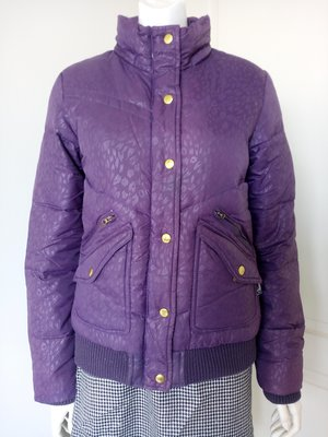 BIG TRAIN( Victoria系列)紫色羽絨外套(35%羽絨65%羽毛、女,SIZE:M號)