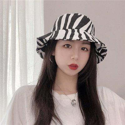 漁夫帽 盆帽-斑馬紋時尚休閒個性女帽子73xu47[獨家進口][米蘭精品]