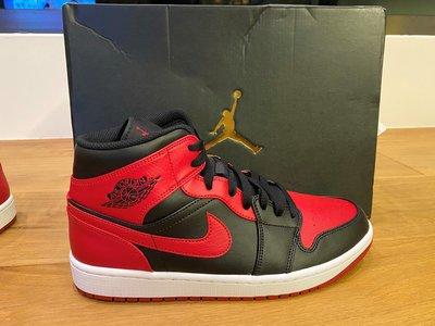 『清航』2020 Nike AIR JORDAN 1 MID BANNED Bred 黑紅 全新真品台灣公司貨