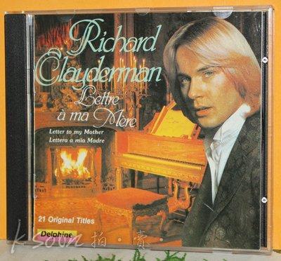 Richard Clayderman-LETTRE A MA MERE,1983,台版,無IFPI,DECCA/福茂唱片