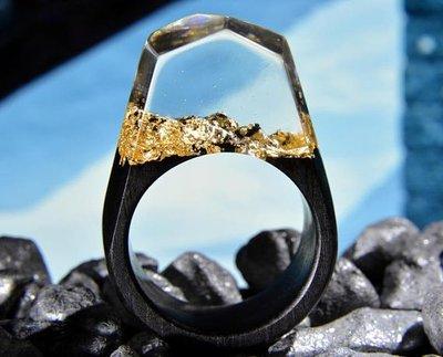 【魔法森林】樹脂+木戒指設計師作品藝術戒指禮物