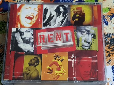 R西洋團(二手CD)RENT~BY JONATHAN LARSON~2CD~