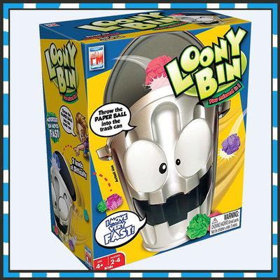 電動瘋狂垃圾桶 室內競技投籃遊戲 LOONY BIN減壓垃圾桶玩具 親子玩具 室內休閒運動玩具