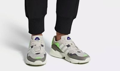 ADIDAS ORIGINALS YUNG-96 灰綠 麂皮 反光 老爹鞋 慢跑鞋 F97182