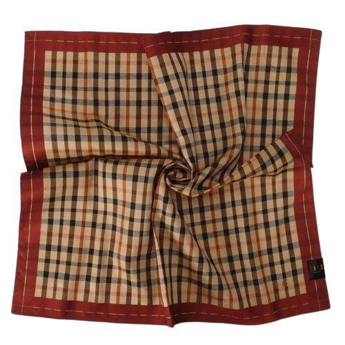 【姊只賣真貨】DAKS經典格紋LOGO刺繡領巾手帕帕巾(紅邊)父親節88節禮物