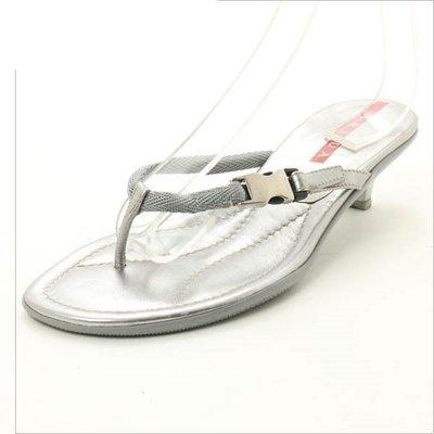PRADA低跟涼鞋38 1/2(25.5厘米)