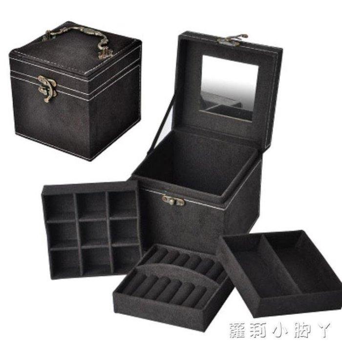首飾收納盒可愛飾品歐式復古絨布小號盒耳釘子 蘿莉小腳ㄚ