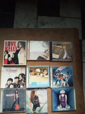 早期知名影視歌星陳慧琳,SHE,NAKIYO,林慧萍,徐懷鈺的CD九盒一組,非常希少