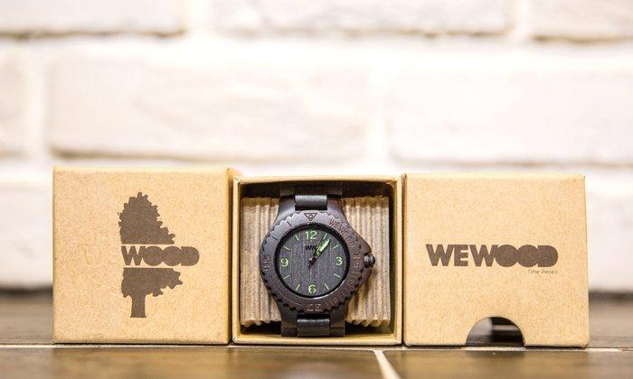 【紐約范特西】現貨  義大利 We Wood WEWOOD  KALE Black GREEN 木頭錶 黒綠色 木頭指針錶 綠色指針