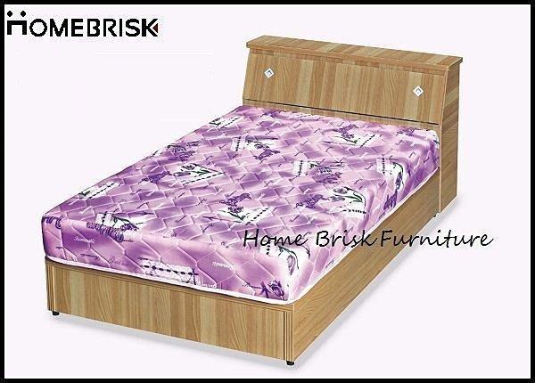 【宏興HOME BRISK】山毛色3尺六分床底【另3.5尺、5尺、6尺】,胡桃,山毛.白橡,免樓層費