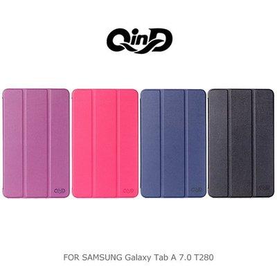 *PHONE寶*QIND 勤大 Samsung Galaxy Tab A 7.0 T280 三折可立側翻皮套 可插卡