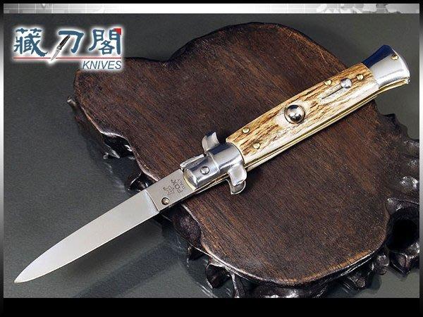 《藏刀閣》FOX-鹿角柄彈簧刀