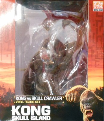 日本正版 X PLUS DEFOREAL 金剛 骷髏島 骷髏爬獸 模型 公仔 日本代購