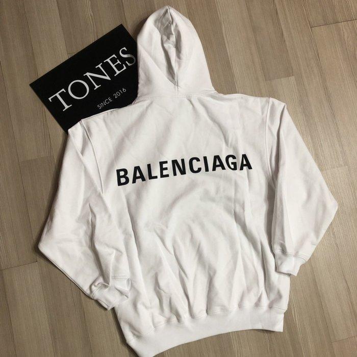 【TONES.】Balenciaga 19SS 背後Logo 帽TEE HOODIE