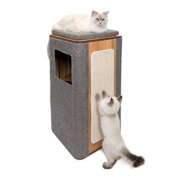 【李小貓之家】Vesper《貓用實木家具-隔層高型積木屋  》