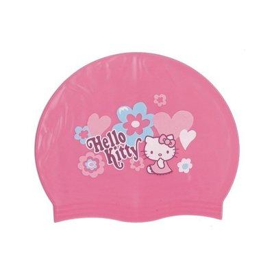 【阿LIN】661AAA 泳帽 Kitty 兒童矽膠 KITTY兒童全矽膠泳帽 凱蒂貓 KT 矽膠材質 泳帽