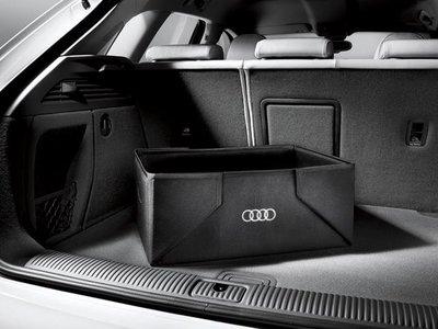 ╭°⊙瑞比⊙°╮現貨 Audi 德國原廠精品 全車系通用 後箱置物箱 置物籃 摺疊箱  購物籃 摺疊盒
