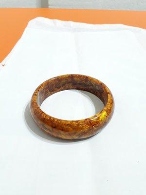 【九龍藝品】金海柳手鐲 ~ 版寬約18mm/內徑寬約62mm(19.5圍)【 2 】