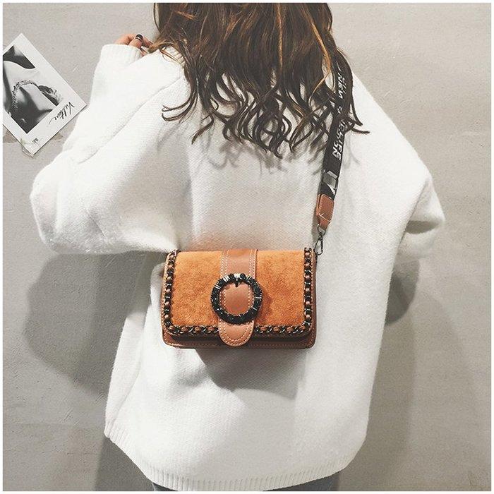FINDSENSE X 韓國 女士 時尚復古 字母肩帶 多功能斜挎包 側背包 單肩包 小方包