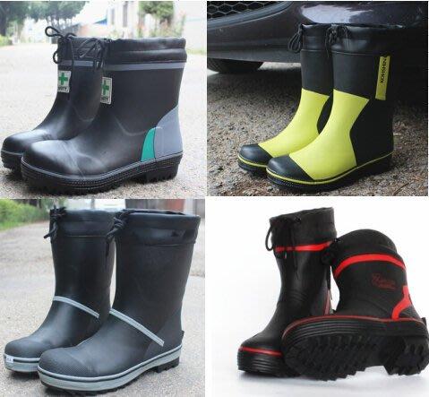 男雨鞋中筒防滑防水橡膠春夏透氣時尚雨靴帶鋼頭防砸釣魚休閑膠靴