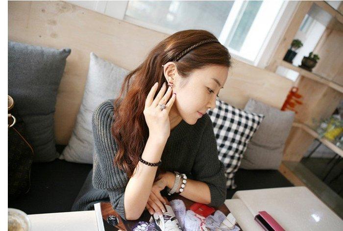 【PEACE33】正韓國空運進口。髮飾飾品 申敏兒九尾狐辮子麻花假髮編髮 頭箍/髮箍/髮圈。現+預