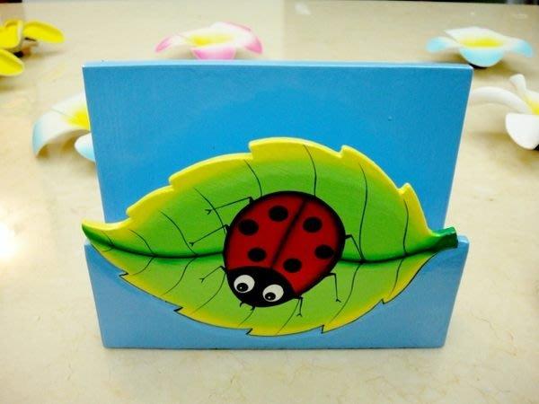 Y【永晴峇里島】巴里島瓢蟲造型面紙盒,增添異國風味,居家,民宿,餐廳,飯店都好用-面紙盒9@