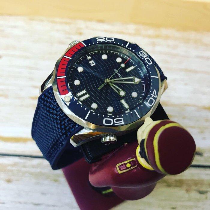 6️⃣六樓先生6️⃣ 海馬Seamaster同款  藍寶石鏡面 特色波浪紋面盤 機械錶 運動錶