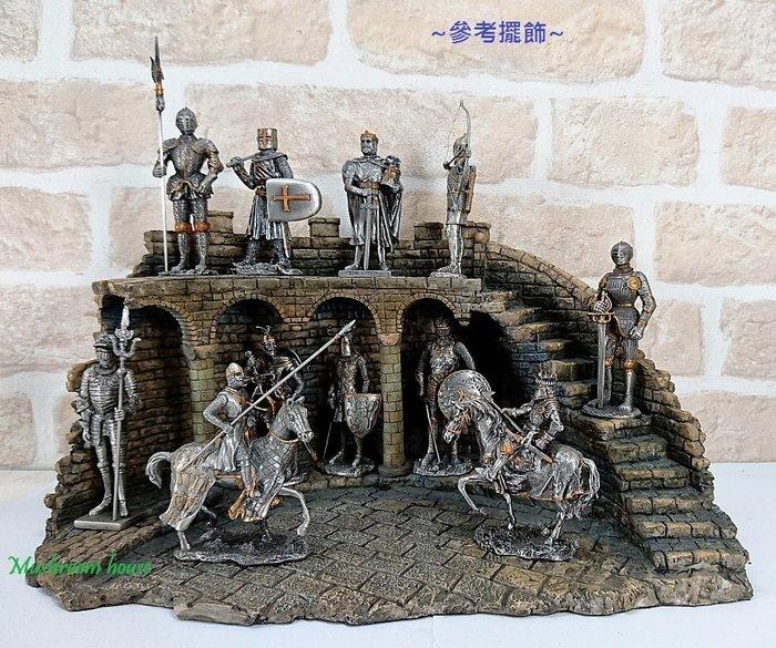 點點蘑菇屋 歐洲精品合金武士展示架 古羅馬城堡 建築 歐洲中古羅馬武士 盔甲武士 騎士 現貨 免運費