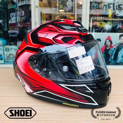 【台中富源】『預購』日本 SHOEI X14 AERODYN TC-1 全罩式安全帽 進口帽 頂級款 紅/黑